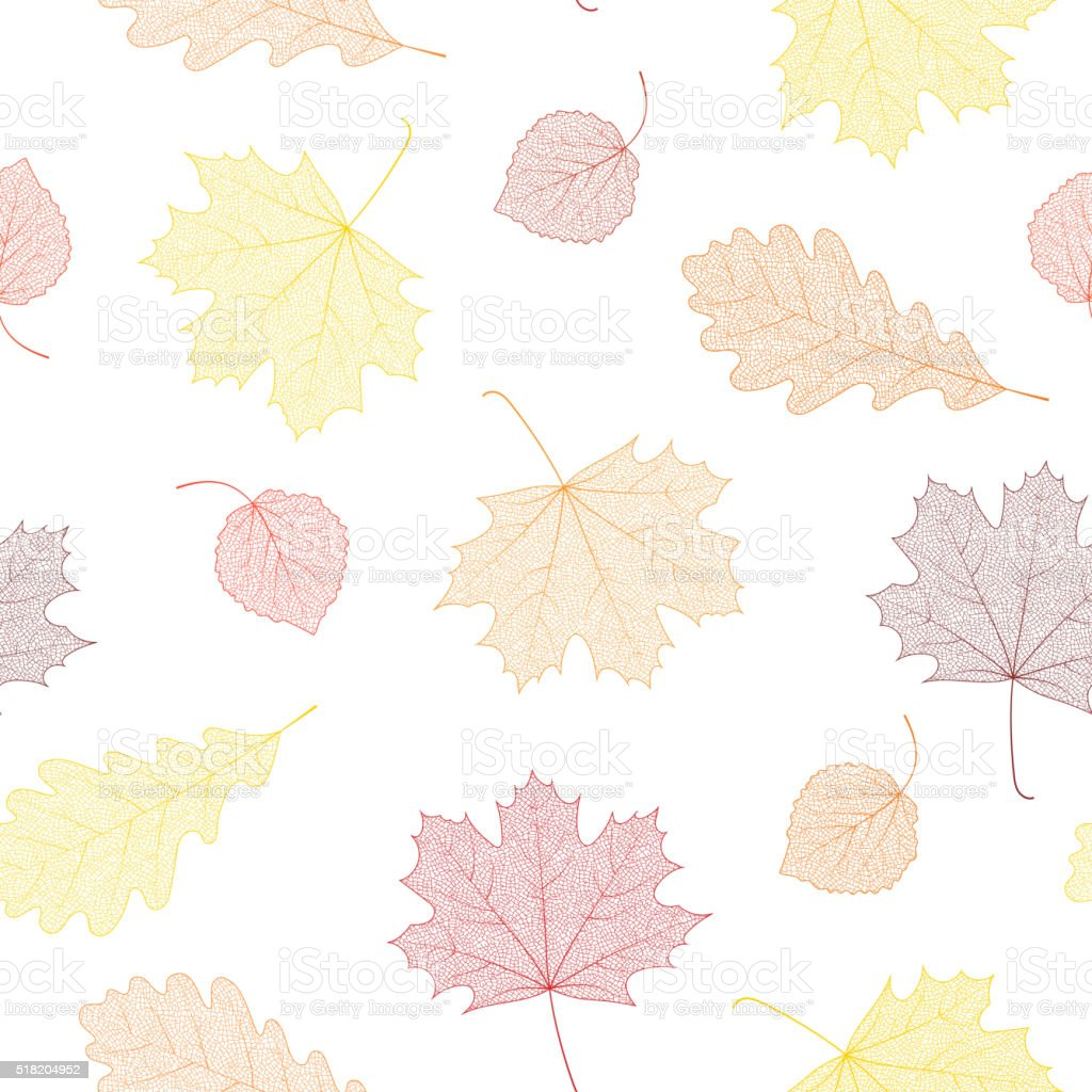 Seamless autumn pattern. vector art illustration