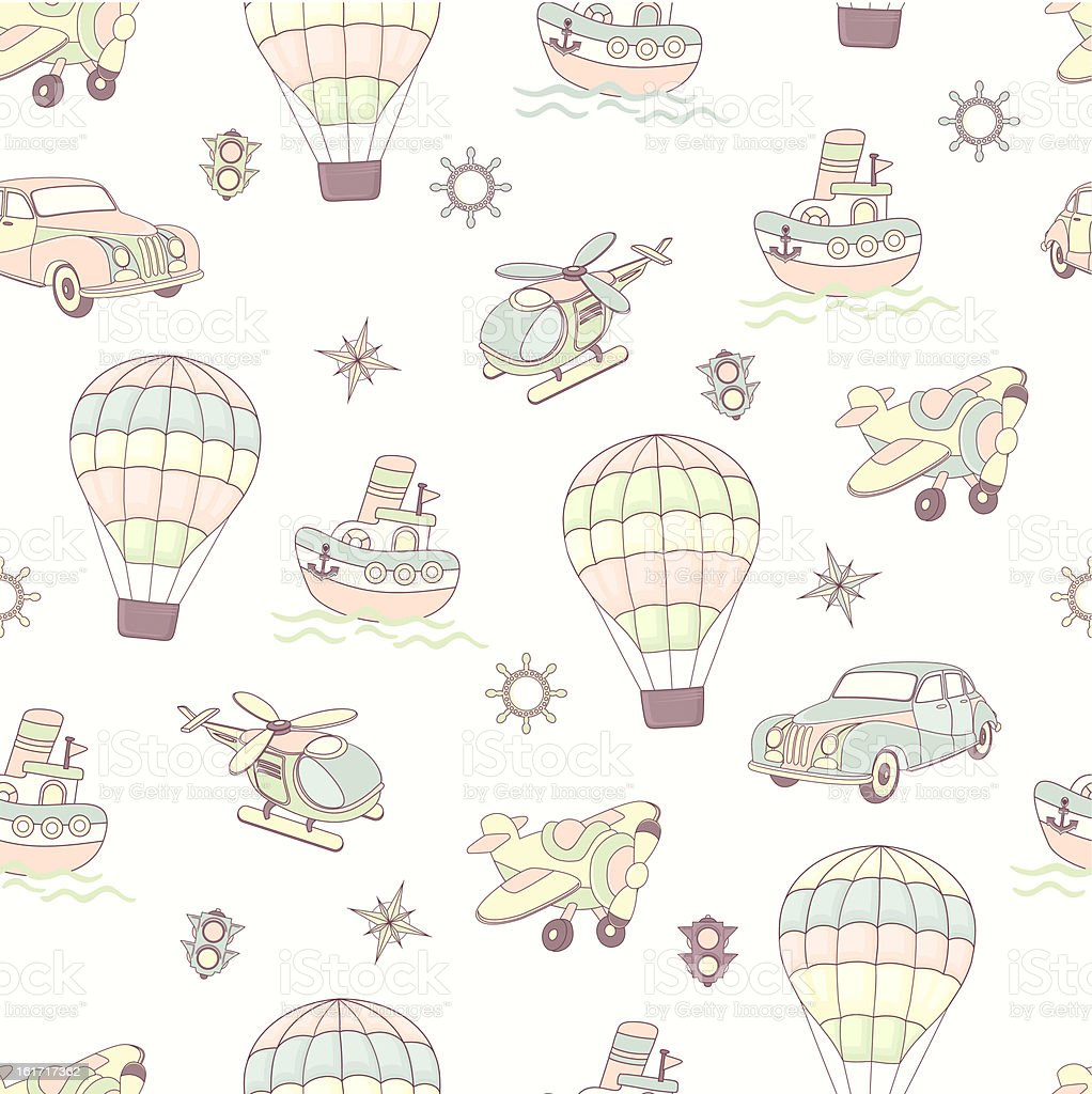 Seamless baby background royalty-free stock vector art