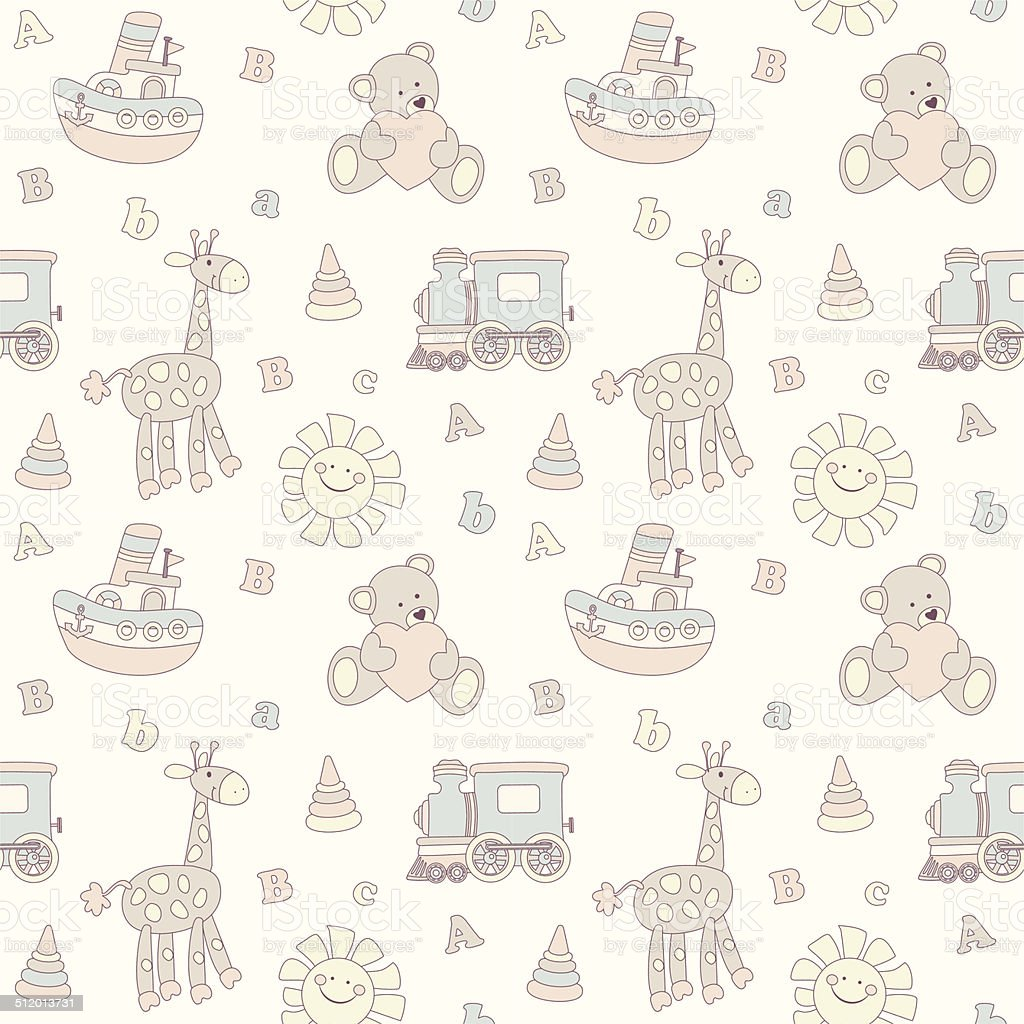 Seamless Baby Background stock vector art 512013731 | iStock