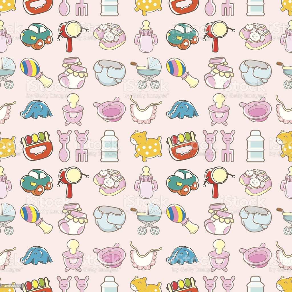 seamless baby good pattern vector art illustration