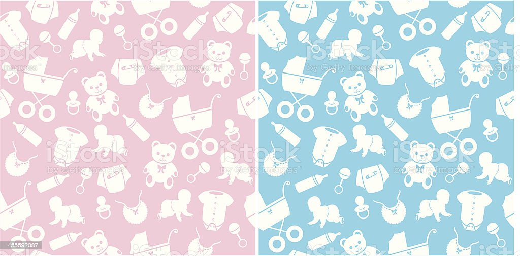 Seamless Baby Pattern royalty-free stock vector art