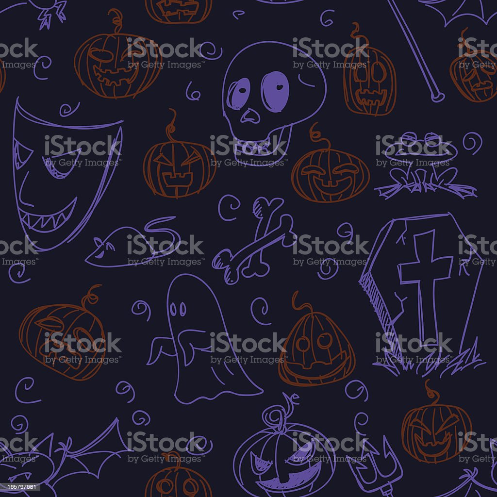 Seamless backgounds - Halloween royalty-free stock vector art