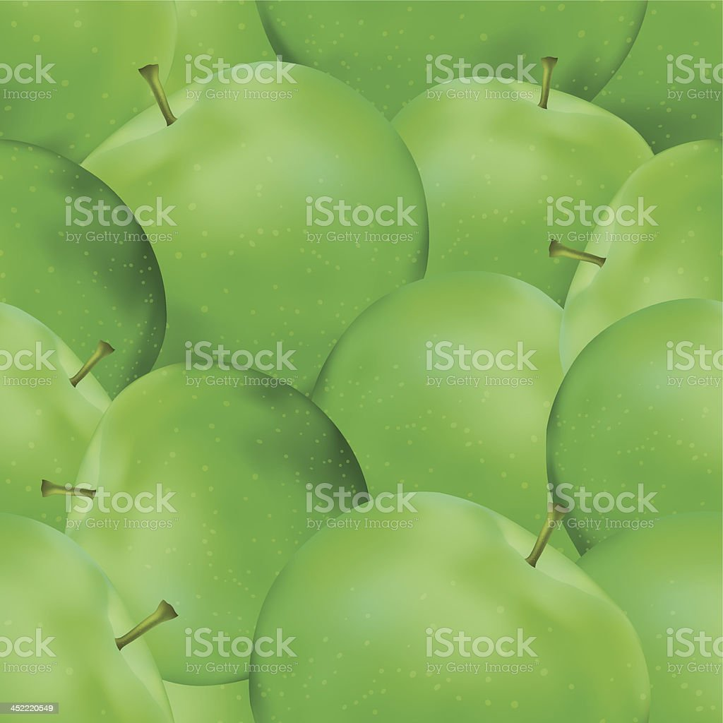 Seamless background, apples royalty-free stock vector art