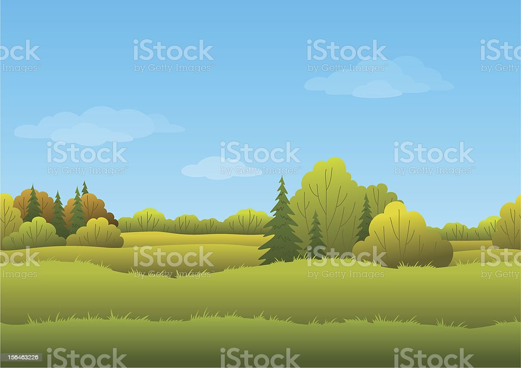 Seamless background, autumn landscape royalty-free stock vector art