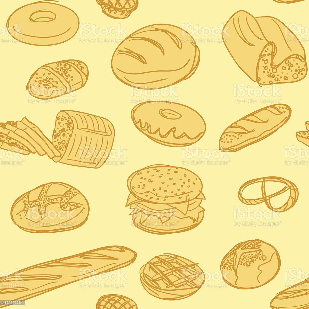 Seamless background - Bakery royalty-free stock vector art