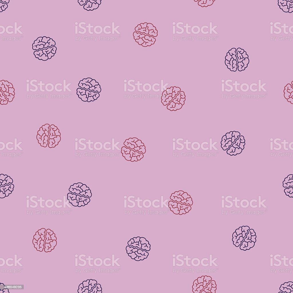 seamless background: brain royalty-free stock vector art