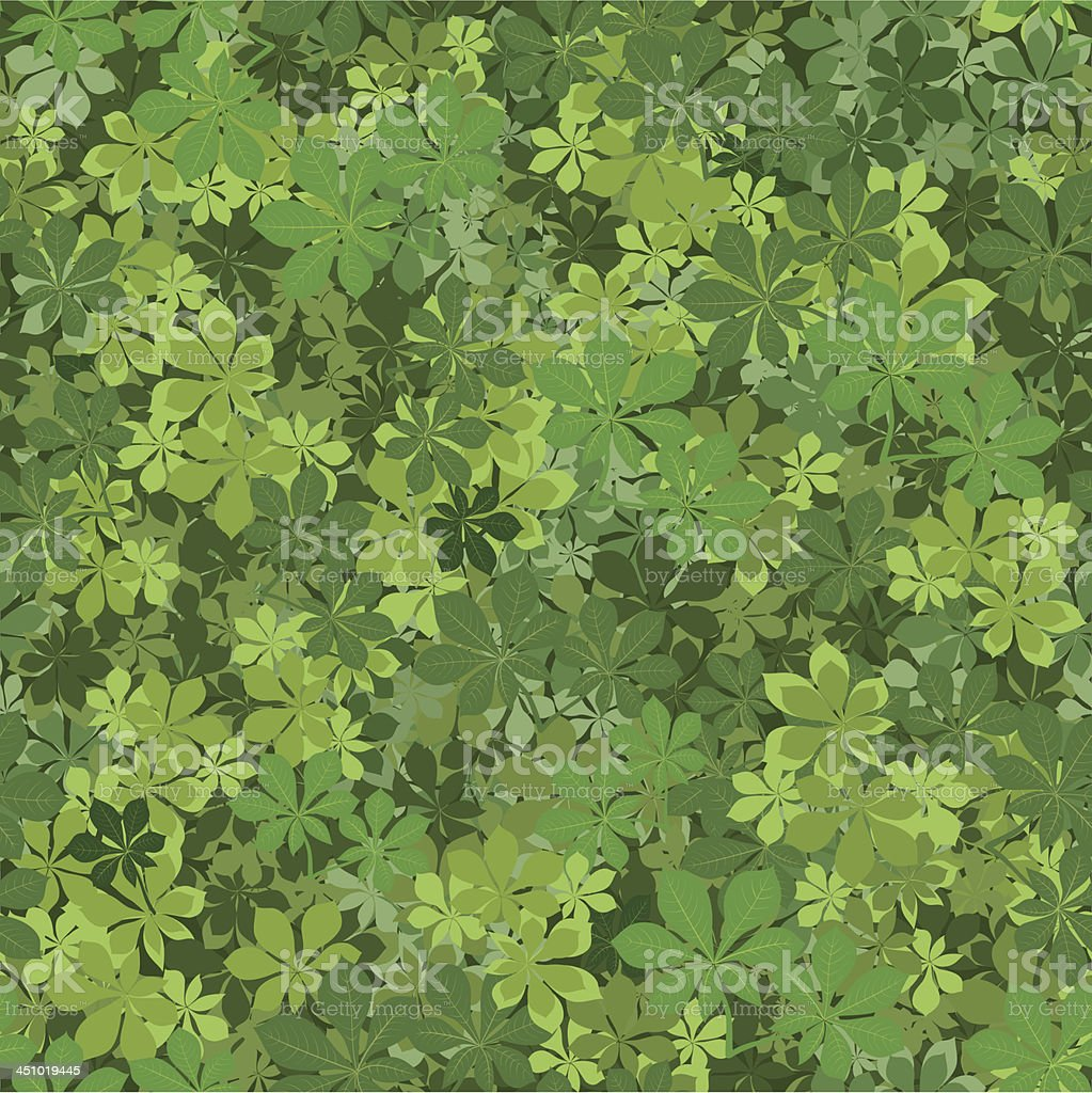 Seamless background, chestnut leaves royalty-free stock vector art