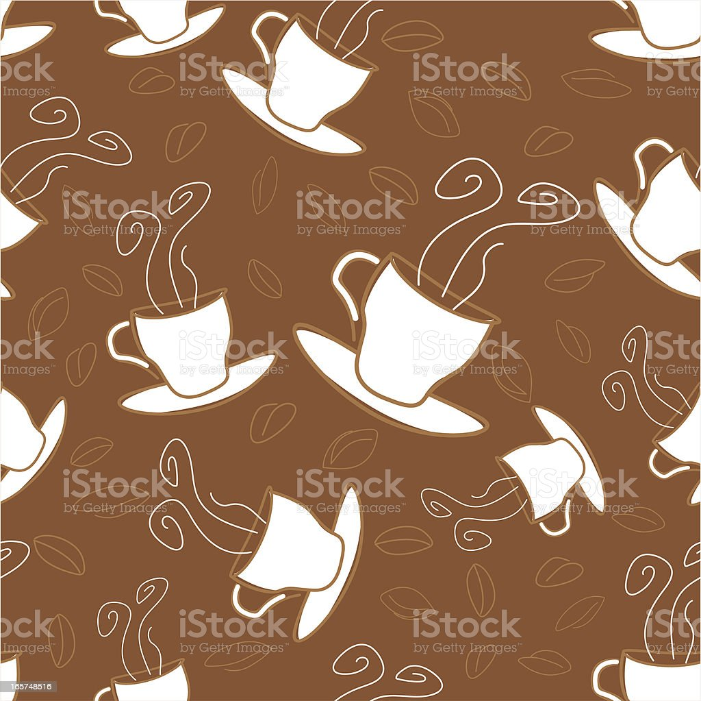 Seamless Background Coffee royalty-free stock vector art