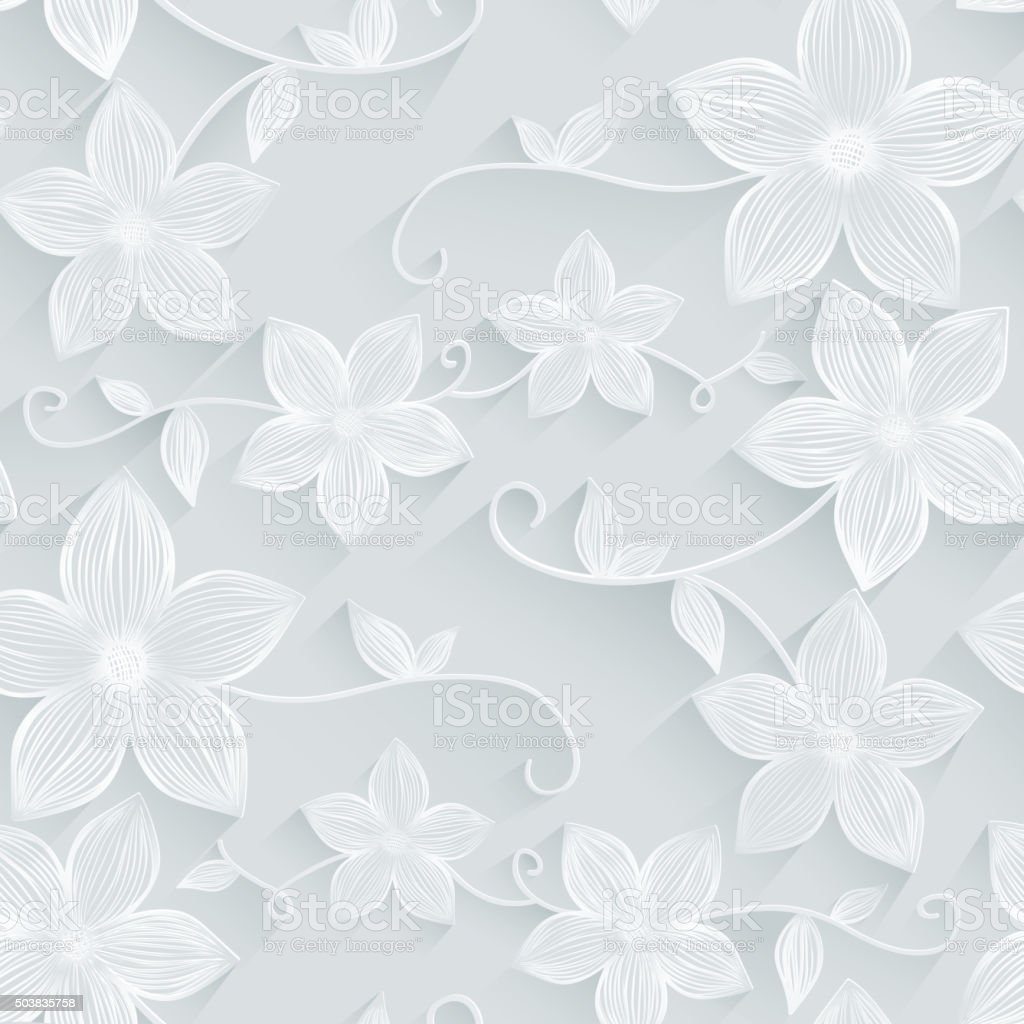 Seamless background floral pattern vector art illustration
