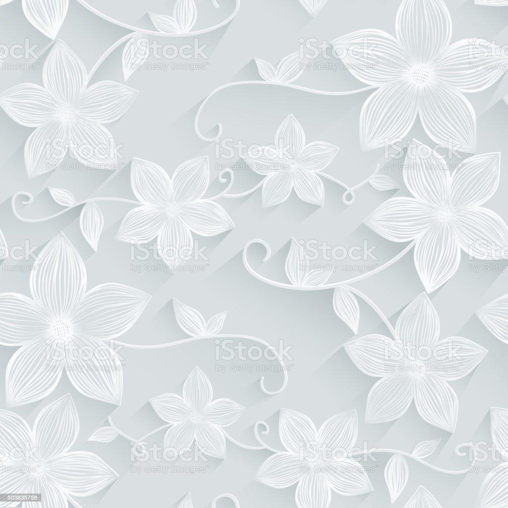 Seamless background floral pattern vector art illustration