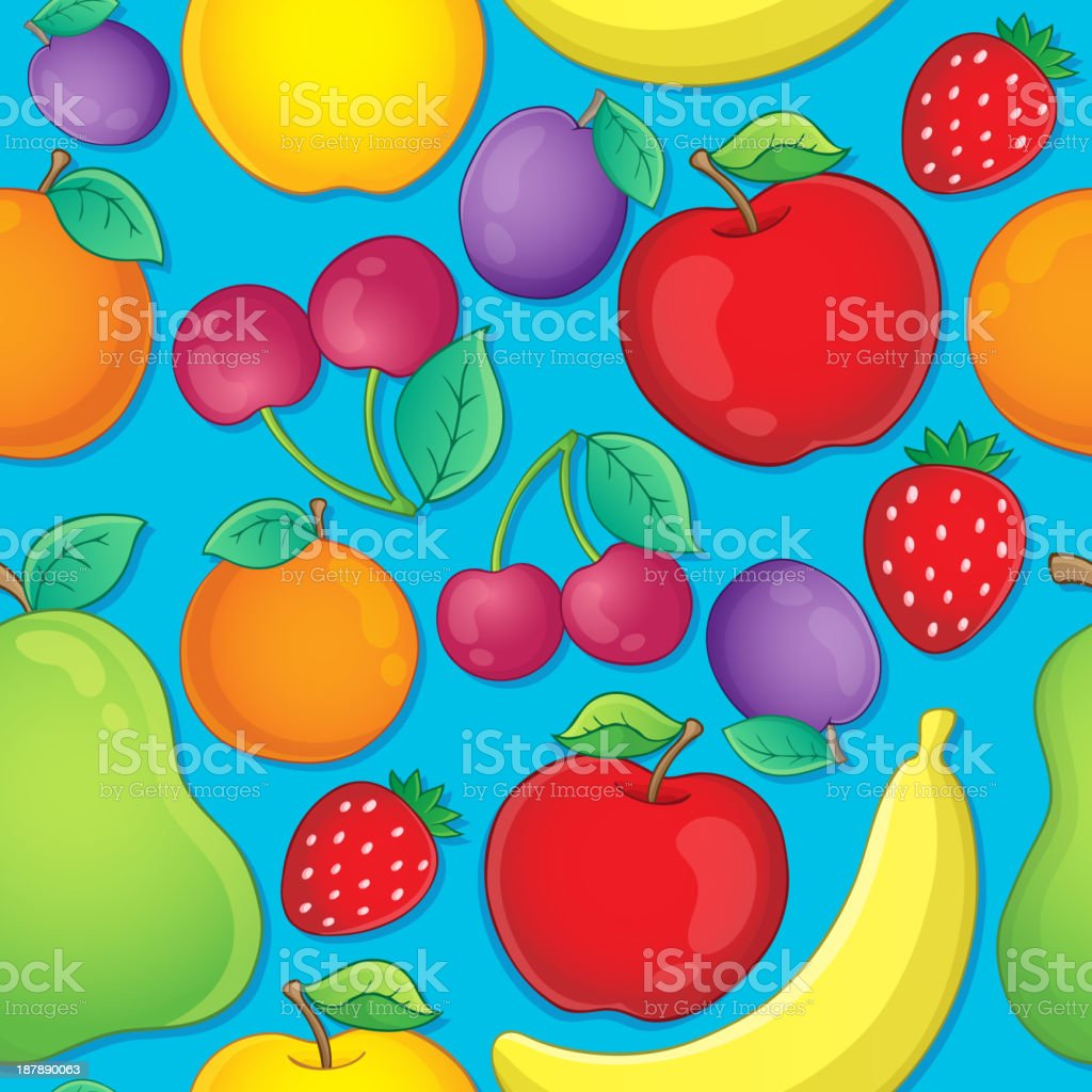 Seamless background fruit theme 2 royalty-free stock vector art