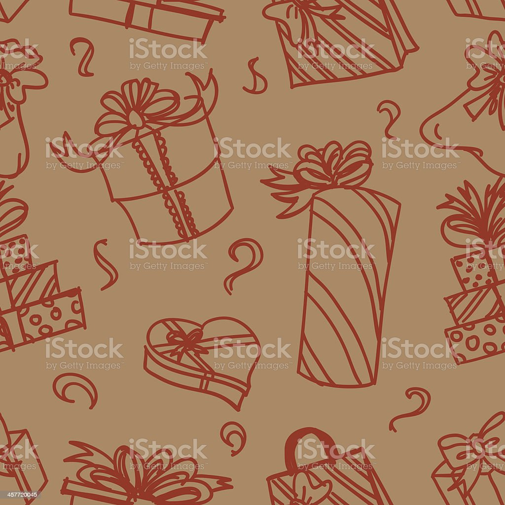 Seamless background - gift and premium vector art illustration