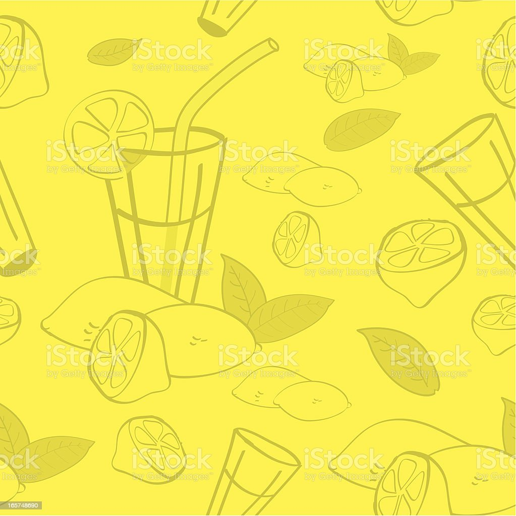 Seamless Background Lemon royalty-free stock vector art