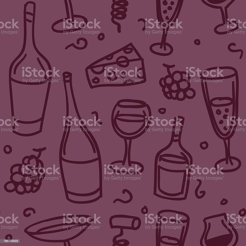 Seamless background - liquor vector art illustration