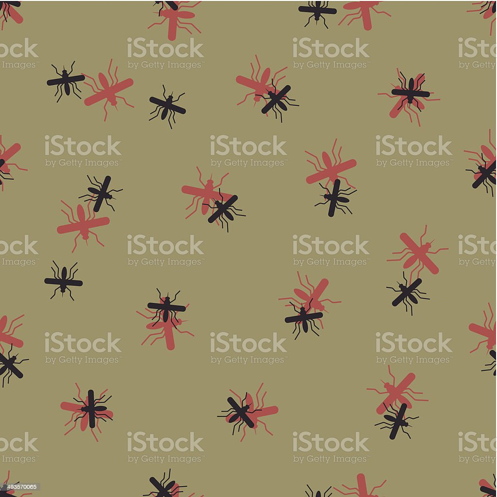 seamless background: mosquito royalty-free stock vector art