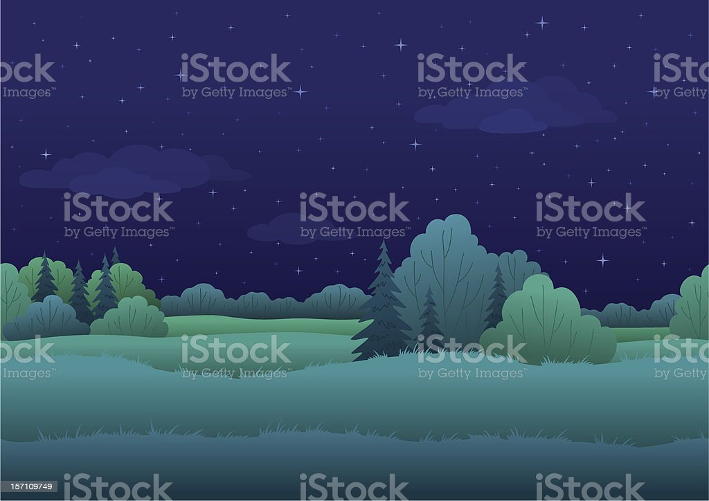 Seamless background, night landscape royalty-free stock vector art
