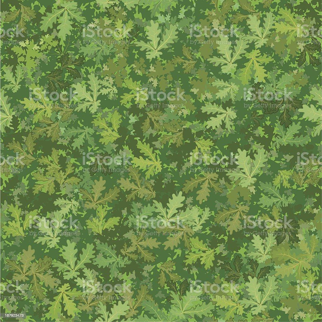 Seamless background, oak leaves royalty-free stock vector art
