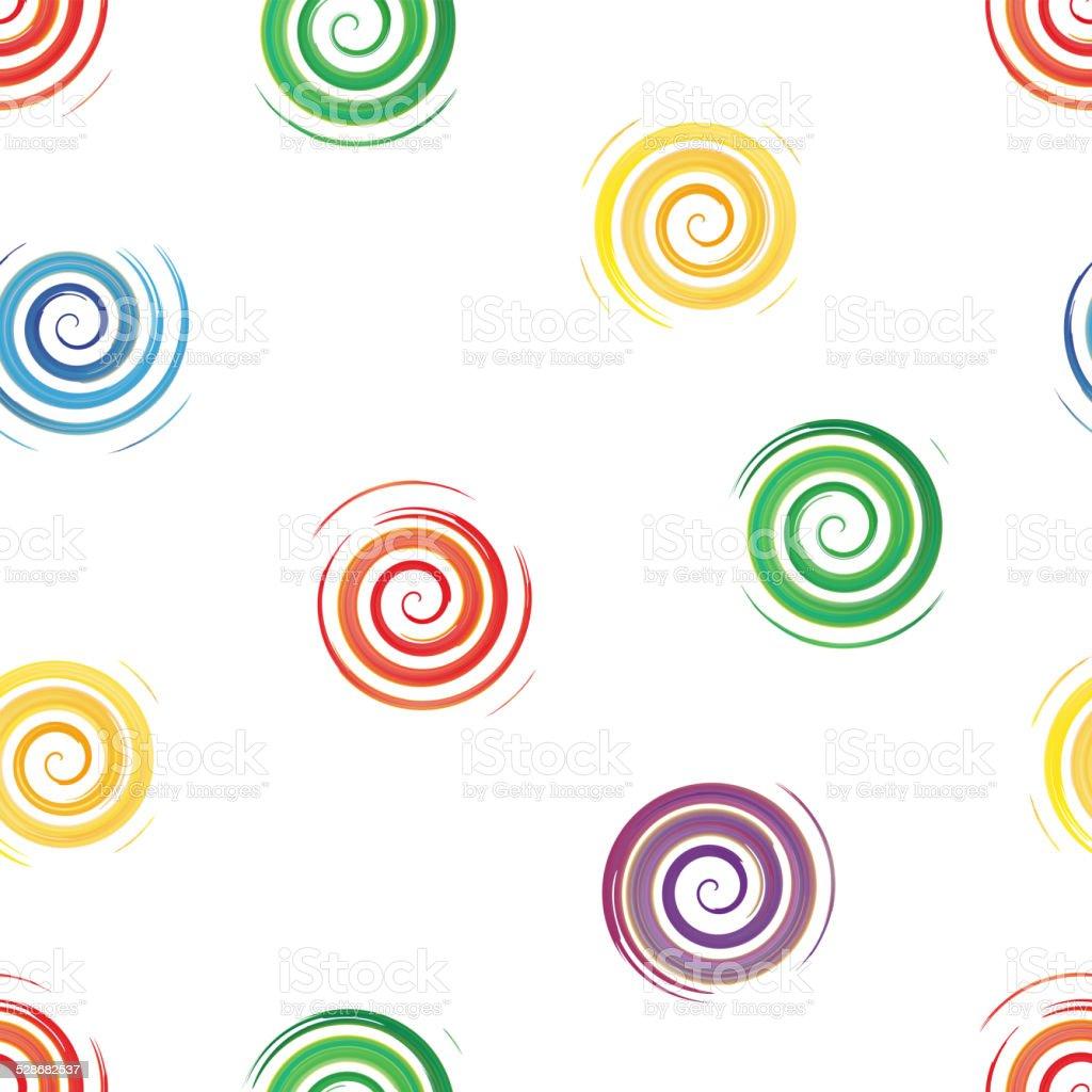 seamless background of watercolor spirals , vector illustration vector art illustration