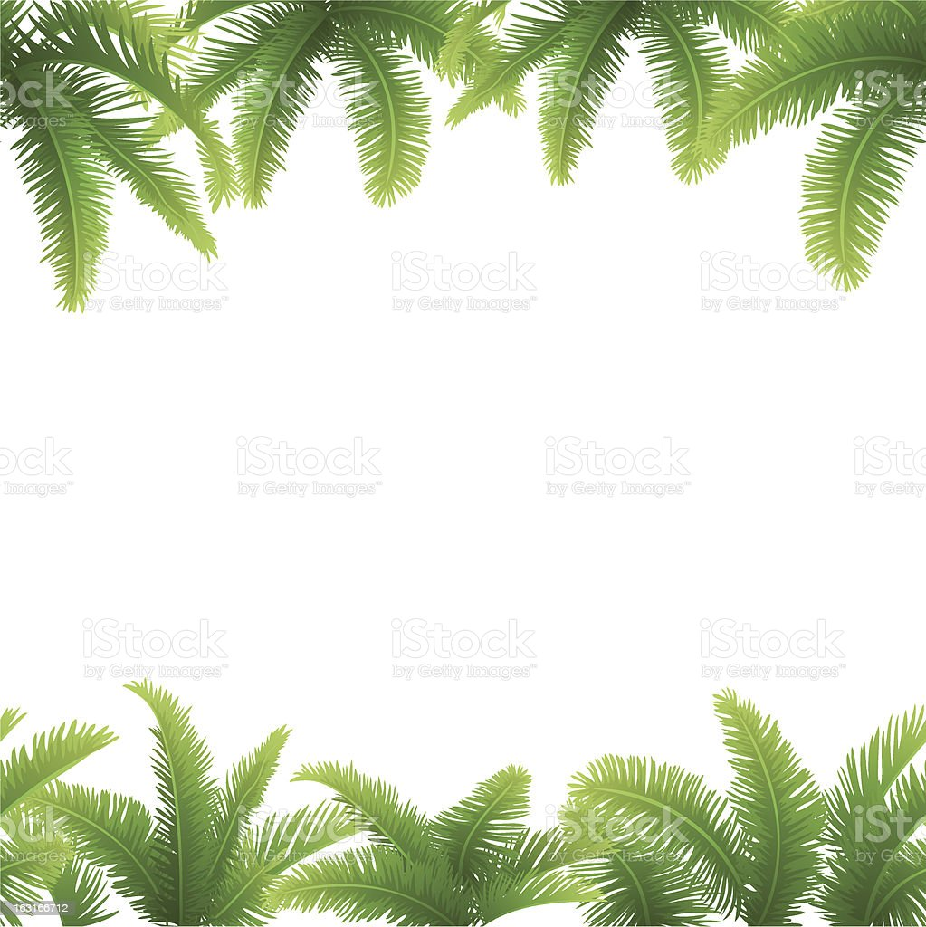 Seamless background, palm leaves royalty-free stock vector art