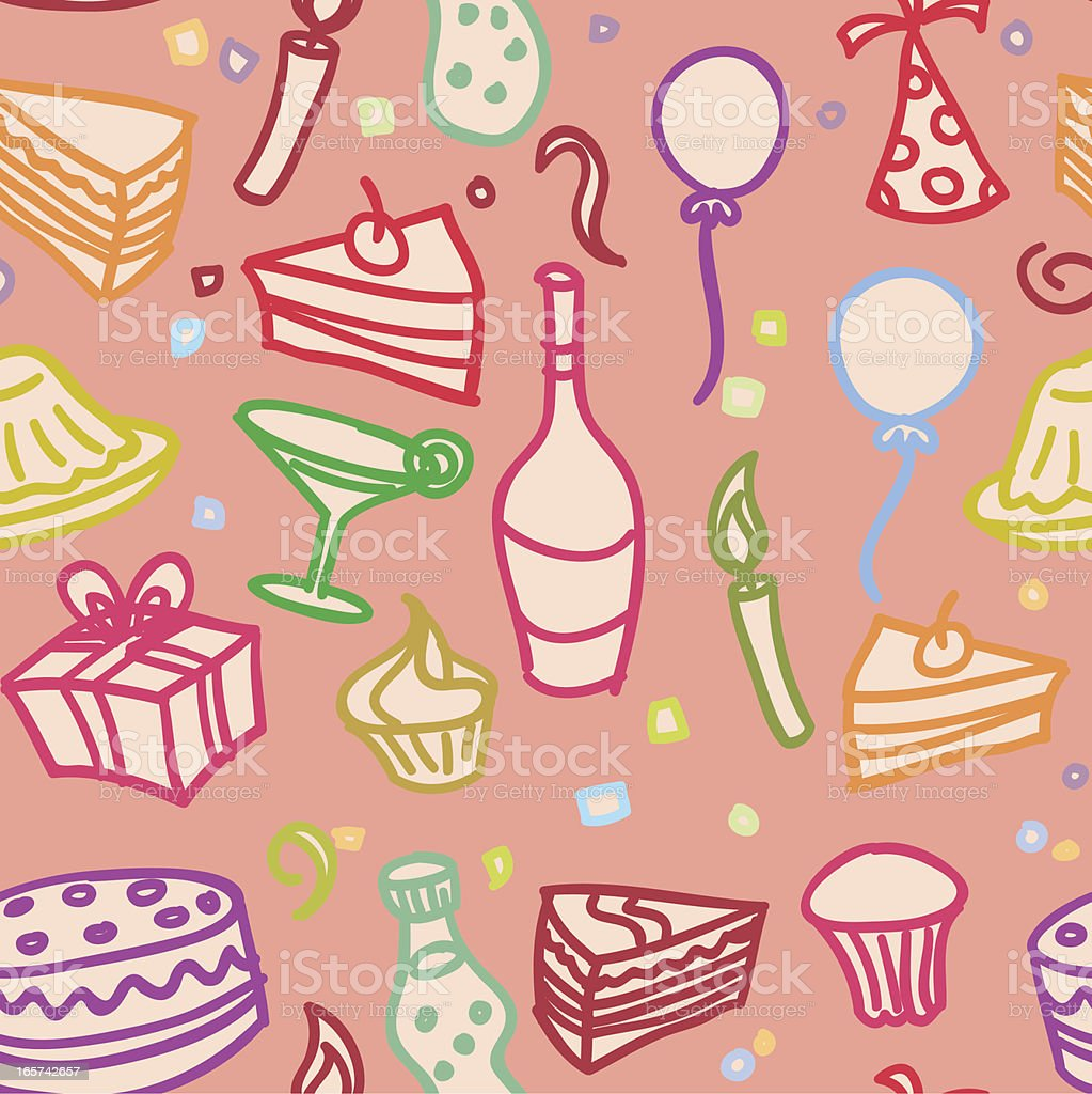 Seamless background - Party fun royalty-free stock vector art