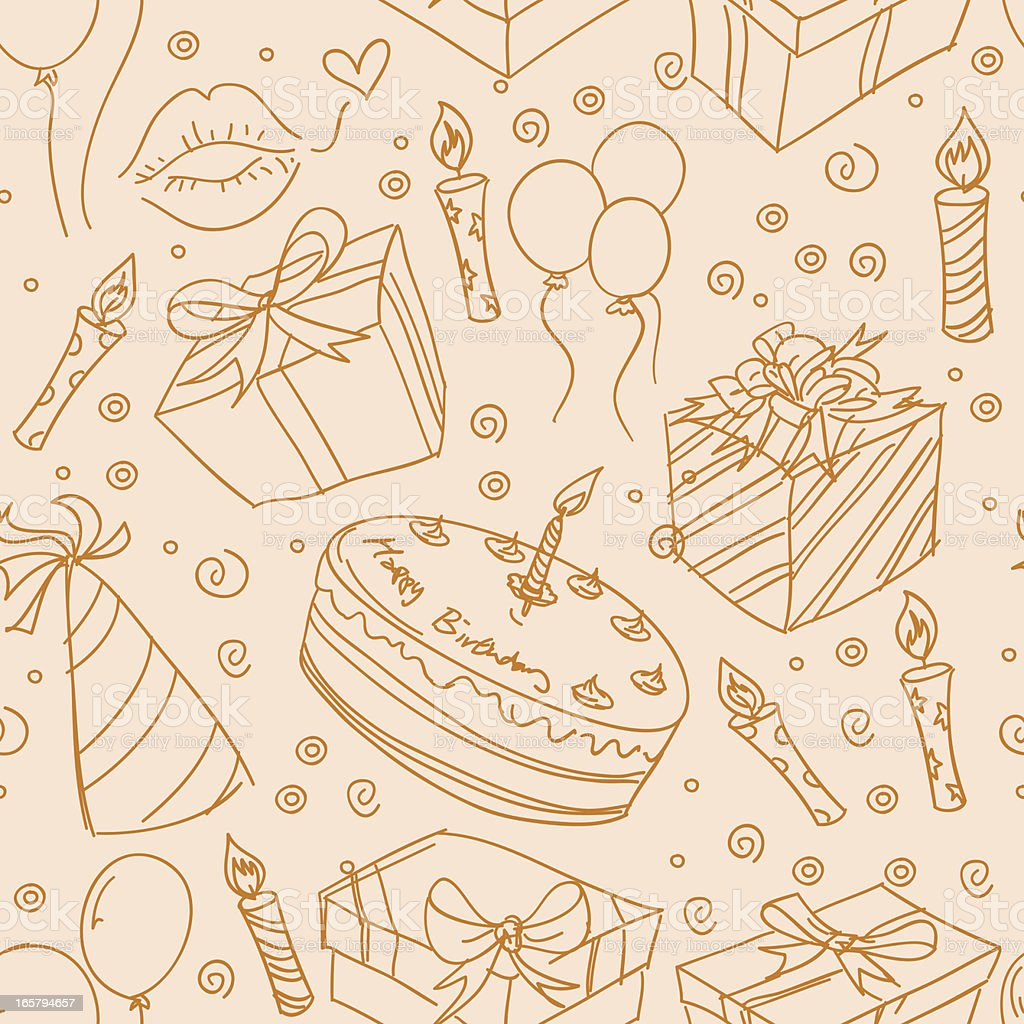 Seamless background - Party vector art illustration