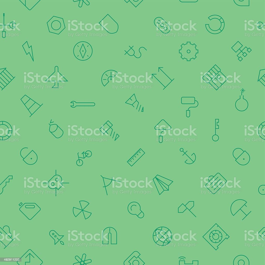 Seamless background pattern for industrial vector art illustration
