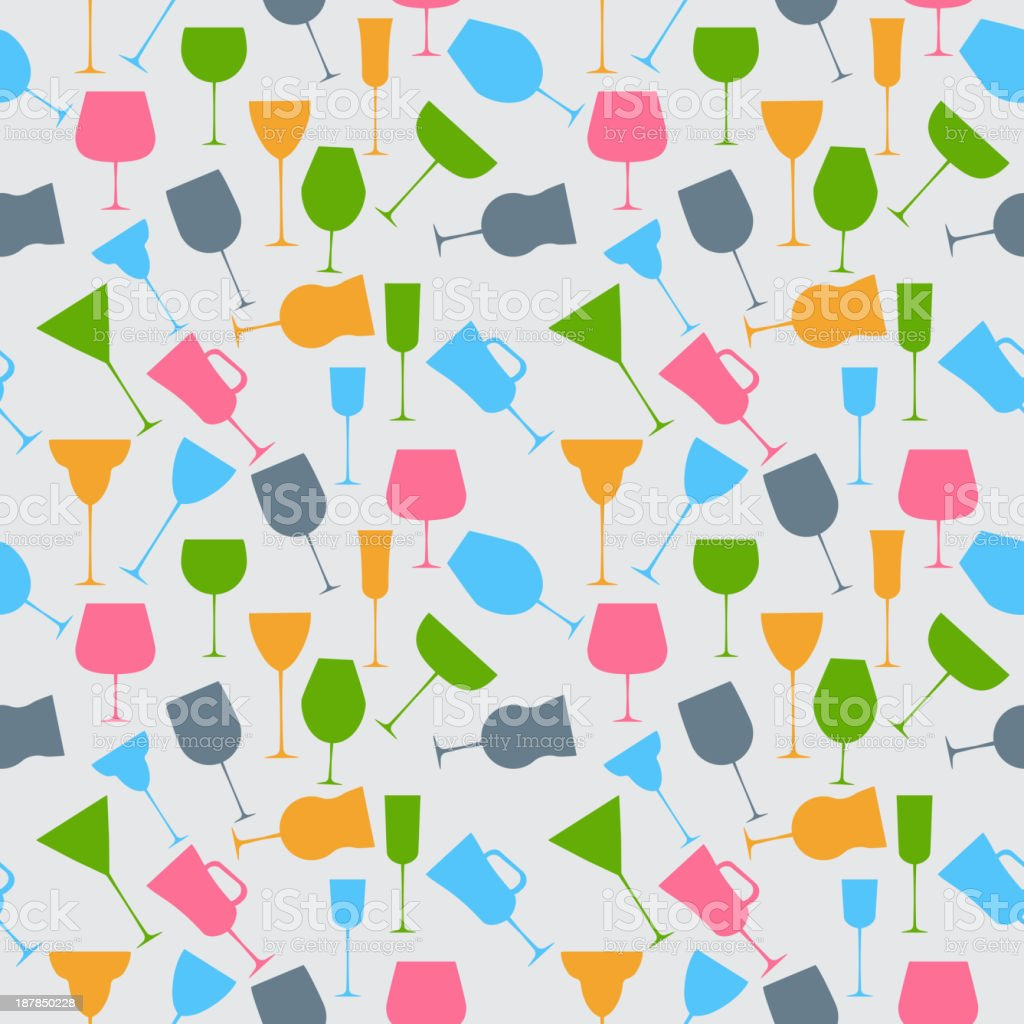 Seamless background pattern of retro alcoholic glass. royalty-free stock vector art