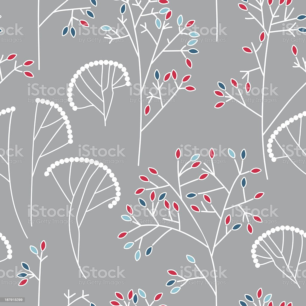 Seamless background pattern with leaves royalty-free stock vector art