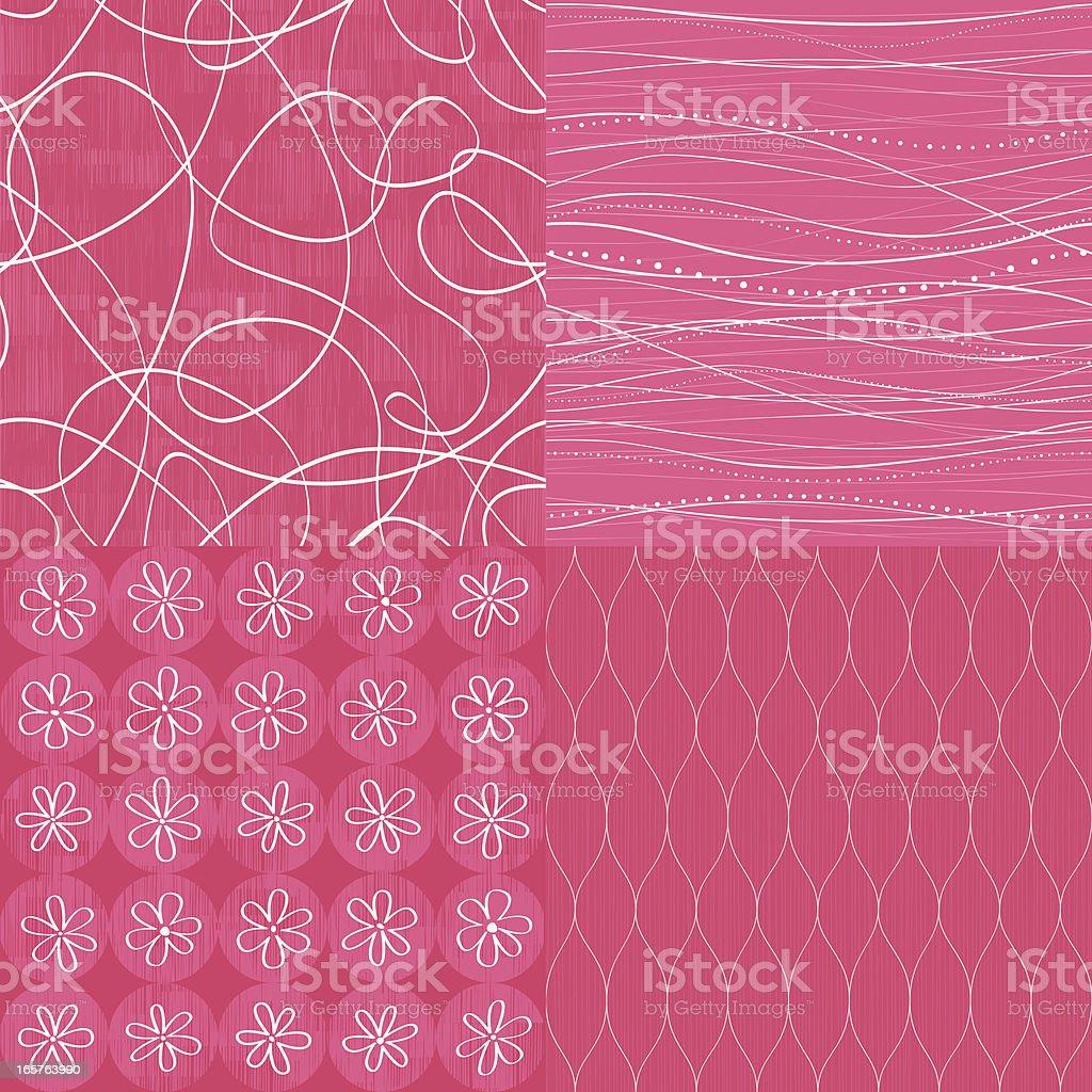 Seamless background set royalty-free stock vector art