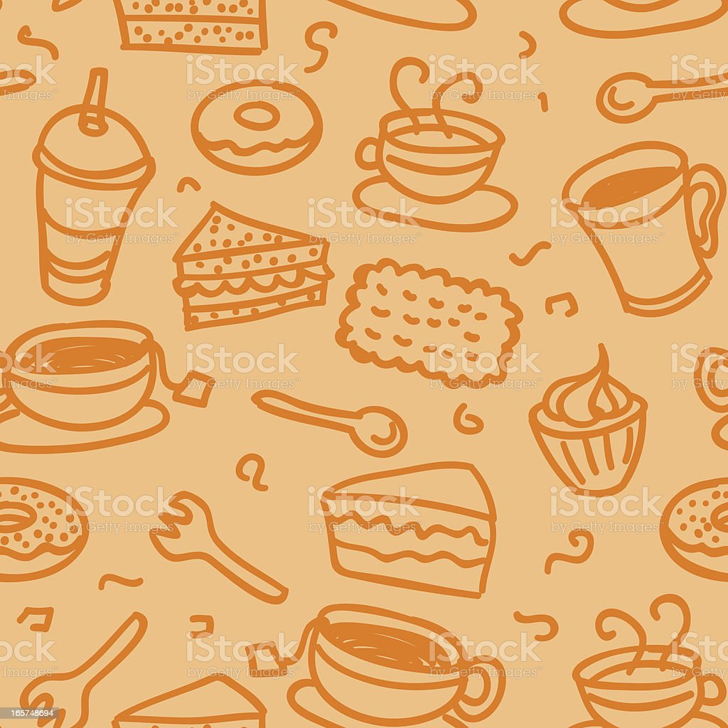 Seamless background - Snack royalty-free stock vector art