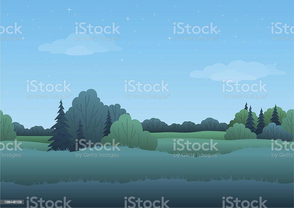 Seamless background, summer landscape royalty-free stock vector art