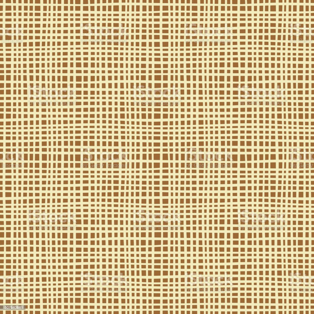 Seamless background texture of canvas. vector art illustration