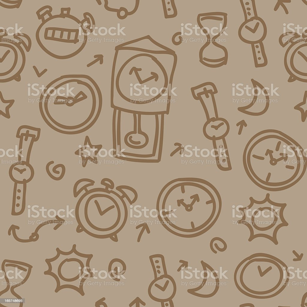 Seamless background - Time royalty-free stock vector art