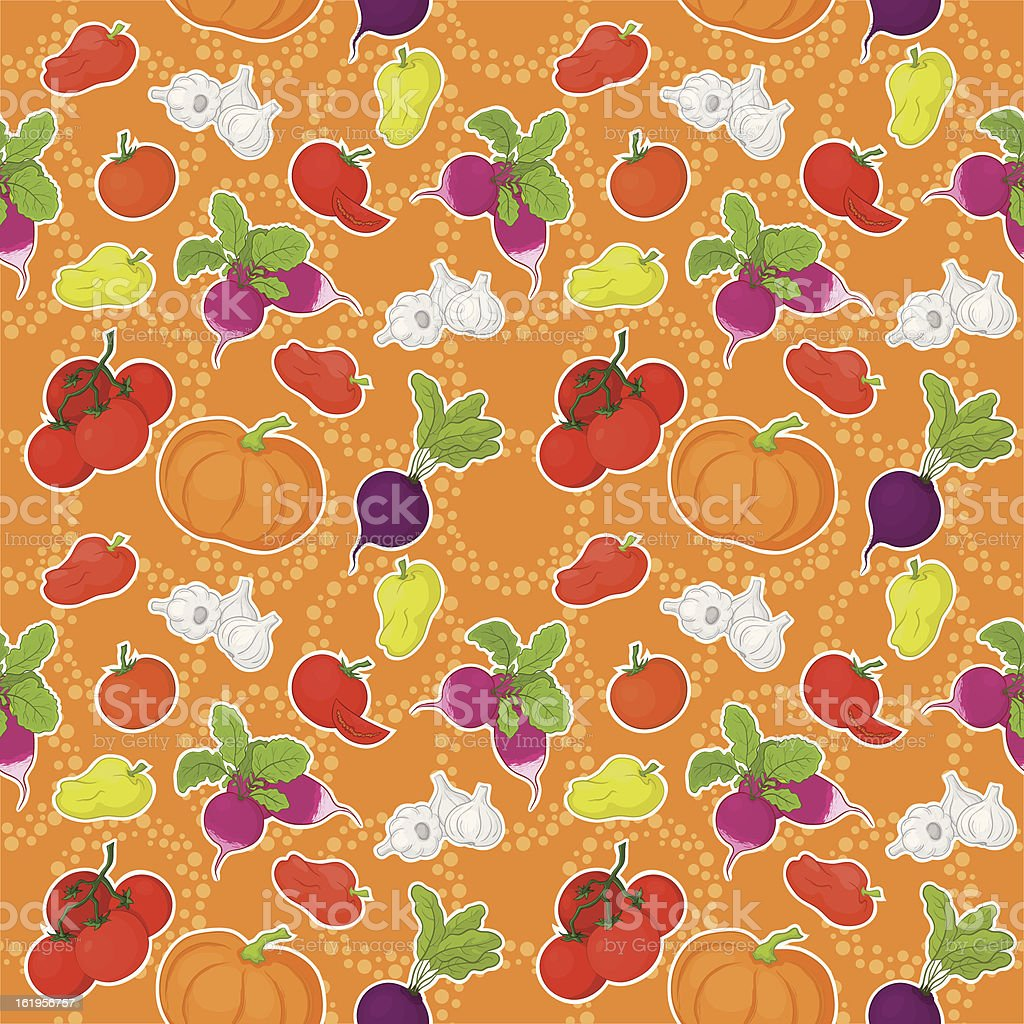 Seamless background, vegetables royalty-free stock vector art