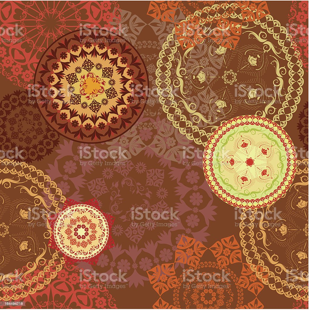 seamless background with arabesques retro royalty-free stock vector art