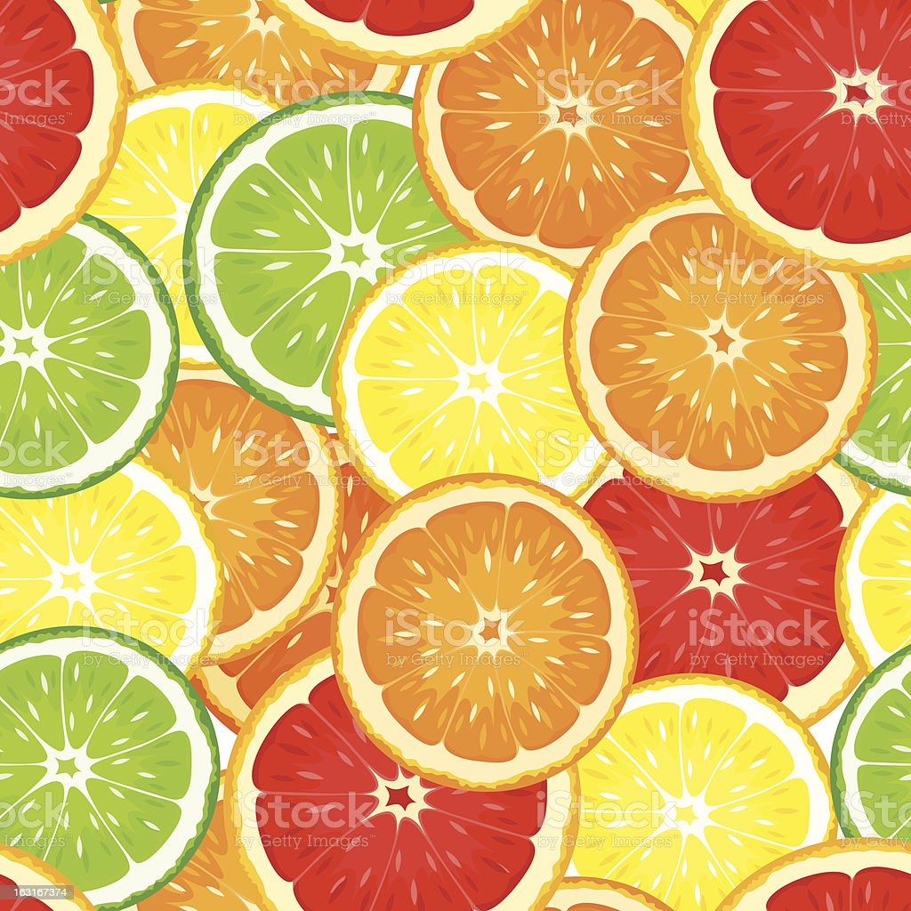 Seamless background with citrus fruits. Vector illustration. vector art illustration