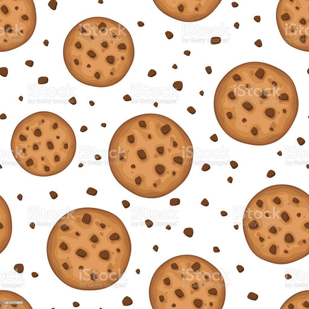 Seamless background with cookies. Vector illustration. vector art illustration