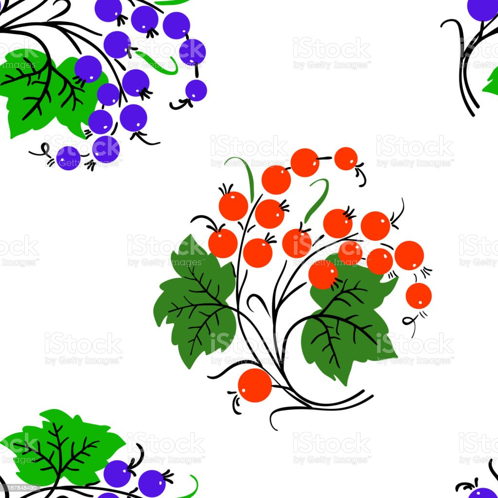 Seamless background with currant royalty-free stock vector art