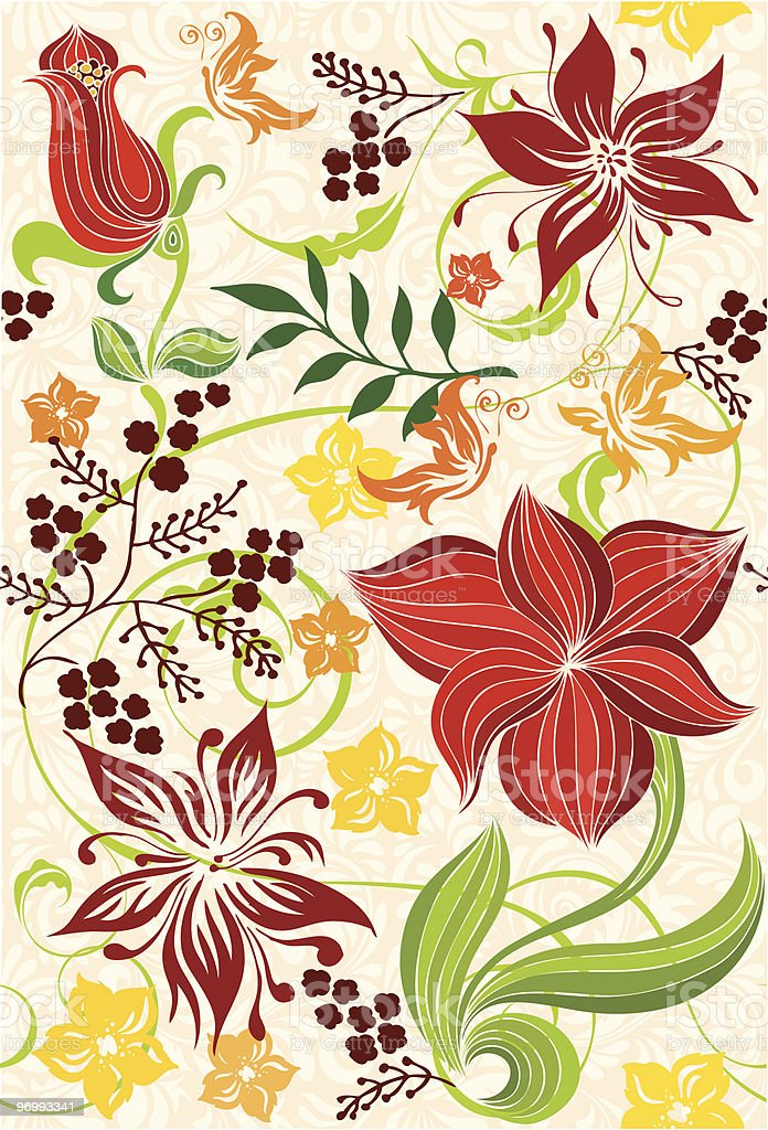 Seamless background with flower royalty-free stock vector art