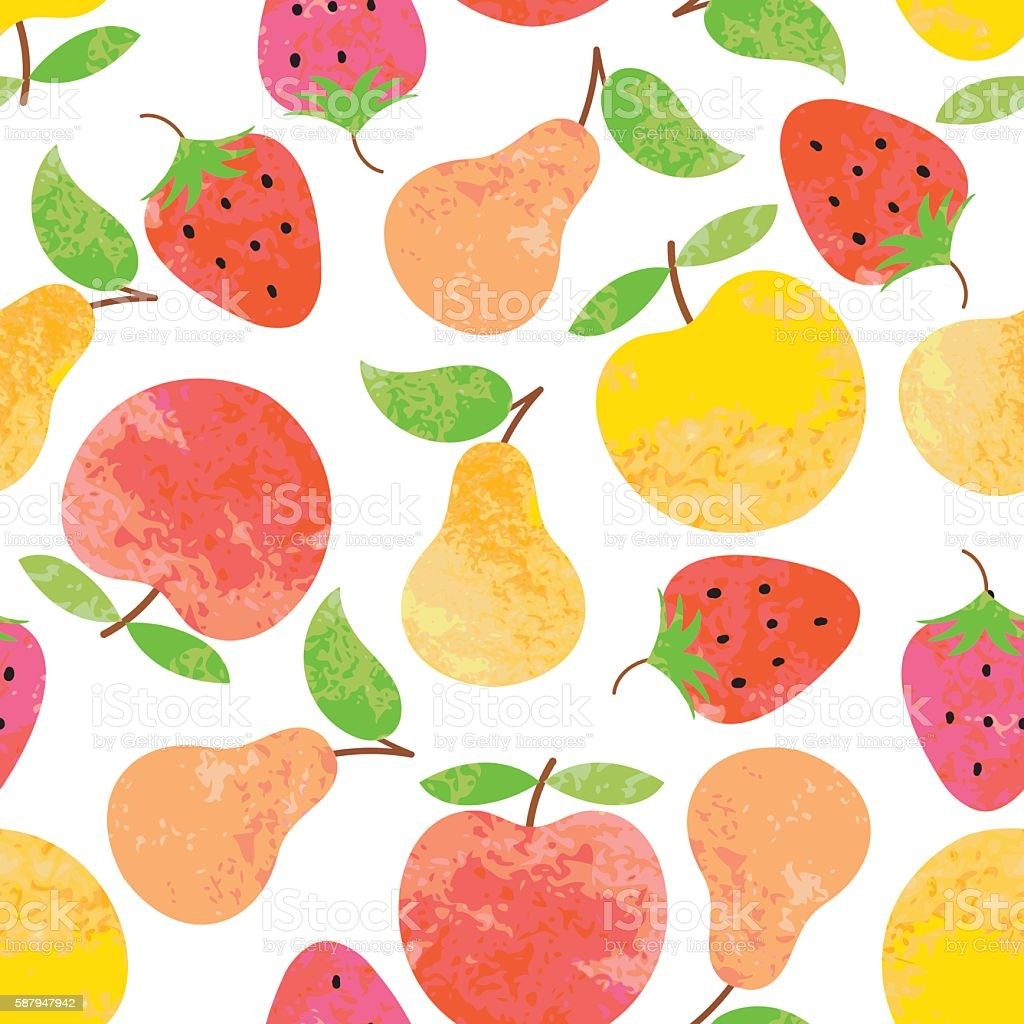 Seamless background with fruit. vector art illustration