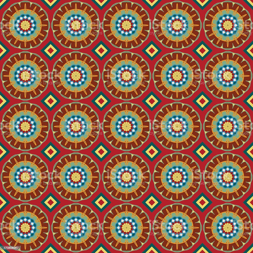 Seamless background with geometric ornament. vector art illustration