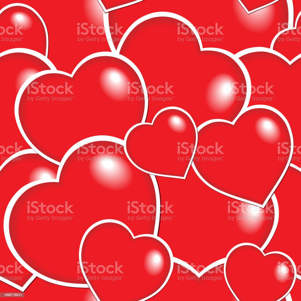 Seamless background with hearts 6 royalty-free stock vector art