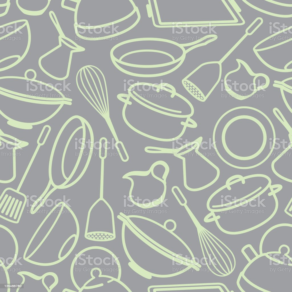 seamless background with kitchen utensil royalty-free stock vector art