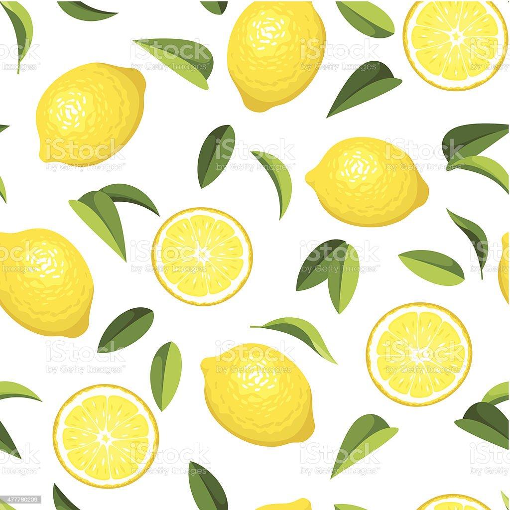 Seamless background with lemons. Vector illustration. vector art illustration
