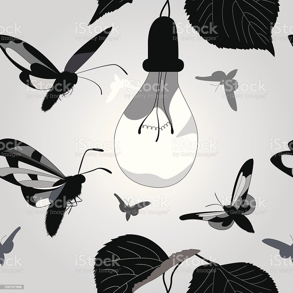 seamless background with moths royalty-free stock vector art