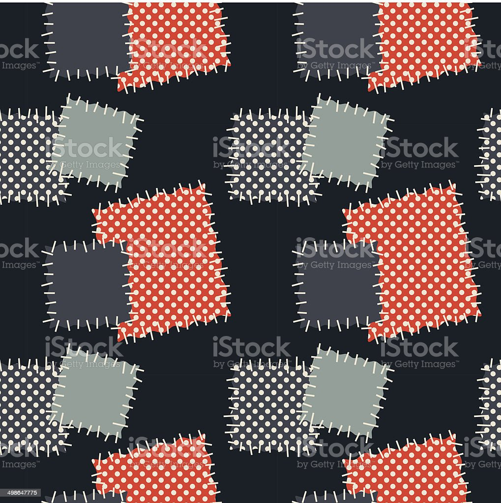 Seamless background with patches. Vector illustration. royalty-free stock vector art