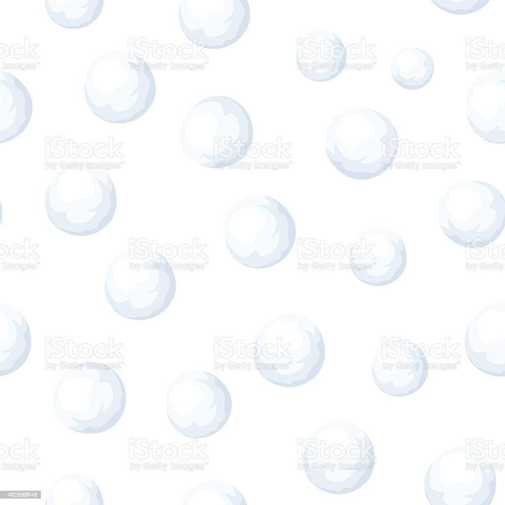 Seamless background with snowballs. Vector illustration. vector art illustration