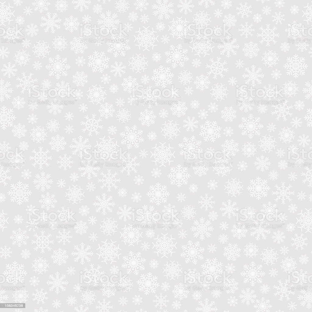 Seamless background with snowflakes vector art illustration