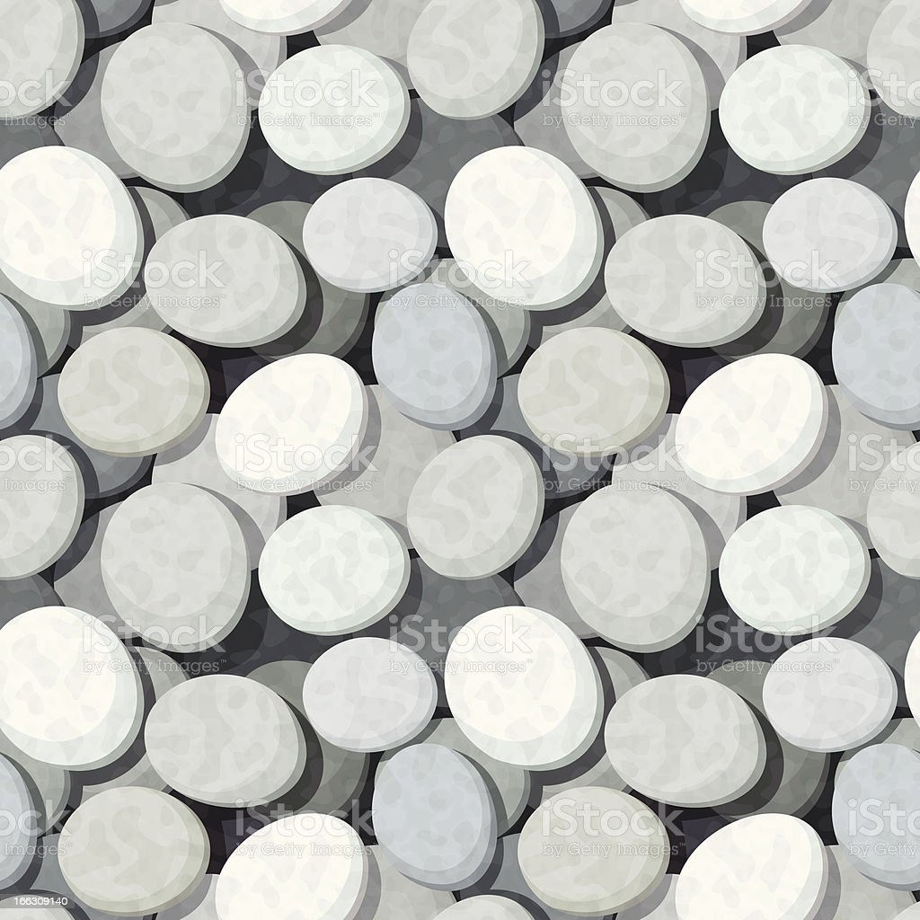 Seamless background with stones. Vector eps-10. vector art illustration