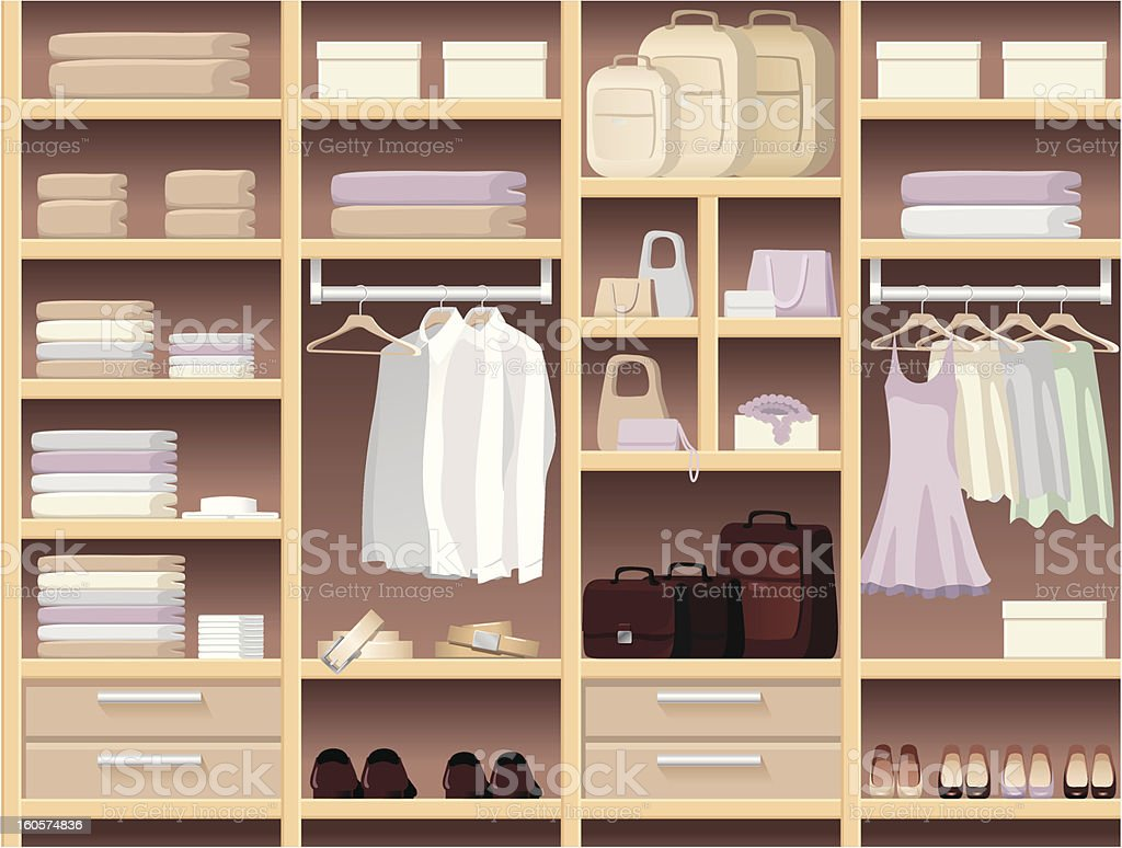 Seamless background with wear and accessories royalty-free stock vector art